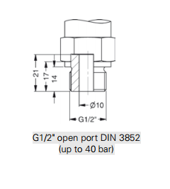 Open port thread for DMK 457
