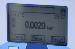 display pressure and temperature