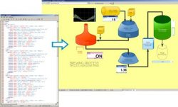 Design SCADA HMI using HTML & Javascript code