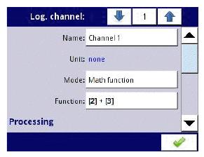 Maths function input menu screen from CMC99