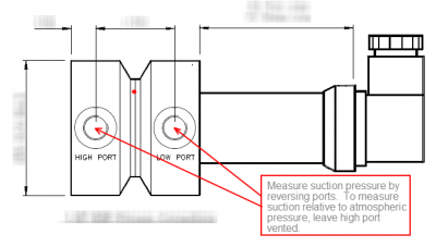 configuring dp transmitter to measure suction pressure