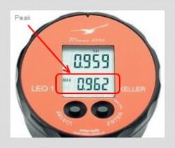 Peak and real time pressure display on LEO1