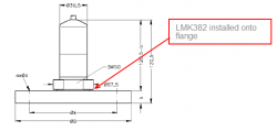 LMK382 wasterwater pressure transmitter and flange