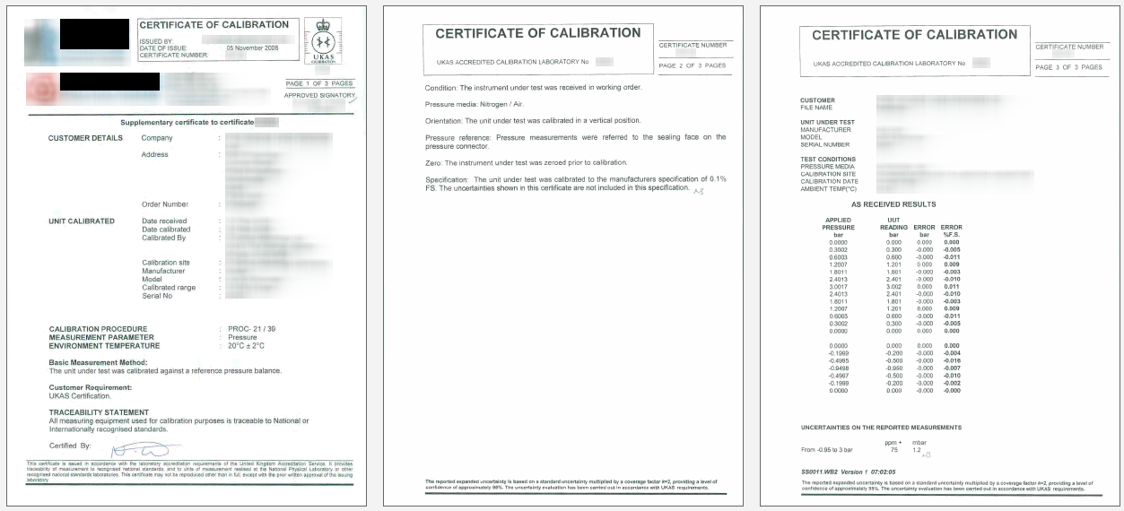 Ukas calibration certificate ukas sample calibration certificate yelopaper Gallery