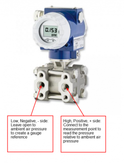 Using a differential pressure sensor as a gauge reference pressure sensor