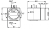 DIN plug local display for 4 to 20 mA transmitters