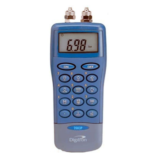 7 bar g/diff handheld manometer which records high/low pressure reading