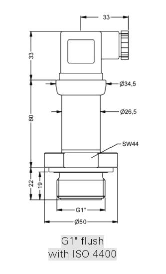 10 psi g range flush diaphragm stainless steel 316L pressure transmitter