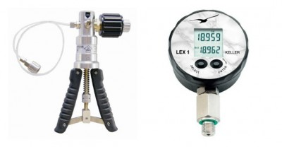 20 bar pressure calibrator with accuracy better than 0.5% down to 200 mbar