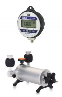 70 mbar manometer calibration pressure gauge and pump