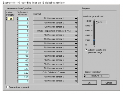 Read30 software configuration for recording multiple channels