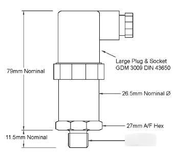 100 barg range 0-10 volts output ceramic diaphragm pressure sensor
