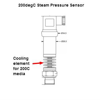 200C steam pressure sensor