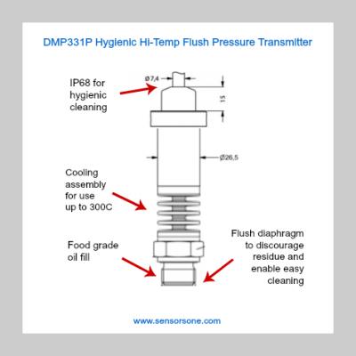 DMP331P Hygienic HiTemp Flush