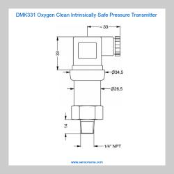 DMK331 Oxygen Clean Pressure Transmitter