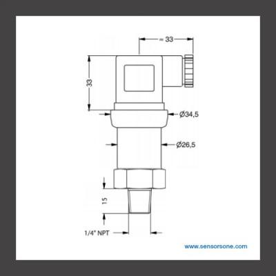 +/-10 inH2O Air Pressure Sensor for Ventilation & Extraction