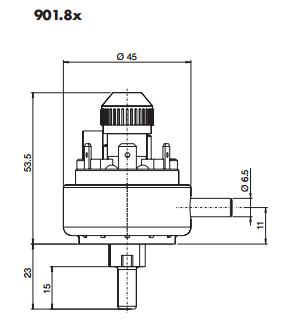 4 to 20 inWG Adjustable Differential Pressure Switch
