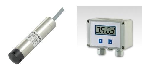200m deep well pump water level sensor, switch & display
