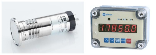Dairy silo level sensor & display unit for reading content in litres