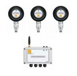 -1barg, 2barg, 10barg range wireless pressure sensing kit for production monitoring use