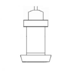 150cm range 0-10Vdc output bulk milk cooler level sensor with dairy pipe fitting
