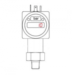 -15psig 0-10V out negative pressure transducer and display for air extraction use