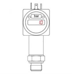10 barg food and beverage pressure gauge with 4-20mA output