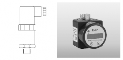 20 MPa g range 4-20mA output high pressure sensor and plug-on display for hydraulic control use