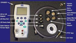 Pressure calibration kit for calibrating submersible hydrostatic liquid level sensors