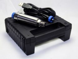 Record pressure at a high sample rate of up to 1kHz using this USB pressure sensor and logging kit with your computer