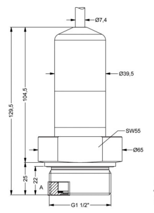 Ferry hull draft monitoring 3 bar absolute 4-20mA output seawater pressure sensor
