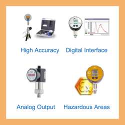 Specify a digital pressure gauge