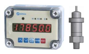 Wind power barometric pressure visual monitor with alarm relay switches