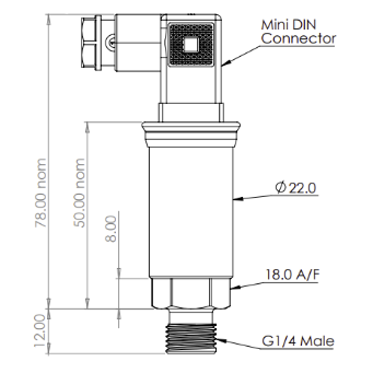 Titan TPTa Amplified Analogue Output Pressure Sensor